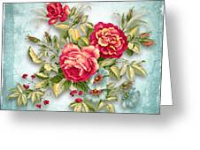 Party Of Flowers  Greeting Card