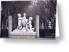 Paseo Del Prado In Winter Madrid Greeting Card