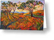 Paso Mosaic Greeting Card by Erin Hanson
