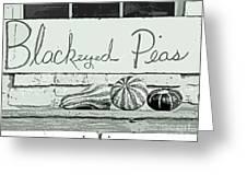 Pass The Peas Please Greeting Card by Joe Jake Pratt