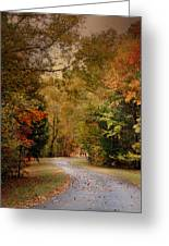 Passage Of Time - Autumn Landscape Greeting Card