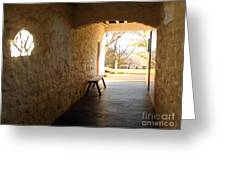 Passageway At Monticello Greeting Card