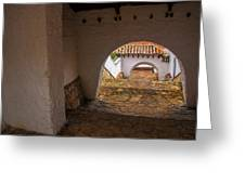 Passageway In Colonial Town Greeting Card