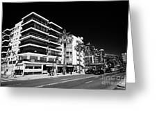 Passeig De Jaume 1 Seafront Road And Properties Salou Catalonia Spain Greeting Card