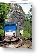 Passenger Train Locomotive Greeting Card