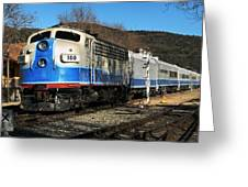 Passenger Train Greeting Card