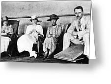 Passengers On Ship, 1912 Greeting Card