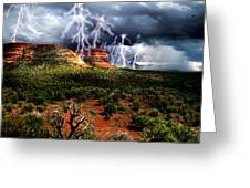 Passing Storm Near Sedona Arizona Greeting Card by Ric Soulen