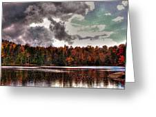 Passing Storm Over Cary Lake Greeting Card by David Patterson