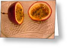 Passion Fruit On Fish Plate 11-3-13 Greeting Card