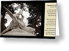 Passion In Death With Poety Greeting Card