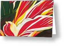 Passion Painting Greeting Card by Lisa Bentley
