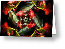 Passionate Love Bouquet Abstract Greeting Card