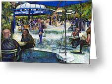Passionate People Playing In The Park Greeting Card