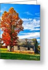 Past Its Prime I - A Barn In The Fall Greeting Card