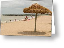 Past Midday Port Lavaca Beach Greeting Card