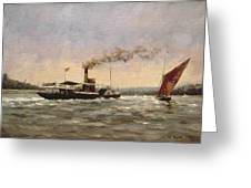 Past On The Medway Greeting Card