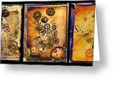 Past-present-future-triptych Greeting Card