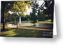 Past Time At Mirror Lake Greeting Card