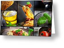 Pasta Collage Greeting Card