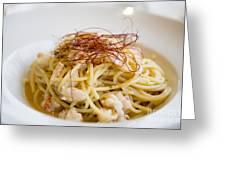 Pasta Food Greeting Card