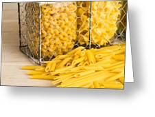 Pasta Shapes Still Life Greeting Card