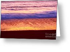 Pastel - Abstract Waves Rolling In During Sunset. Greeting Card