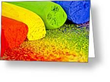 Pastel Chalks Greeting Card