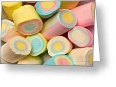 Pastel Colored Marshmallows Greeting Card