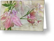 Pastel Columbines Greeting Card
