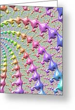 Pastel Drizzle Greeting Card