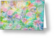 Pastel Flowers By Jan Marvin Greeting Card