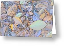 Pastel Leaves Greeting Card