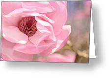 Pastel Pink Petals And Paint Greeting Card