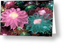 Pastel Posies Greeting Card by Peggi Wolfe