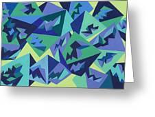 Pastel Pyramids Greeting Card