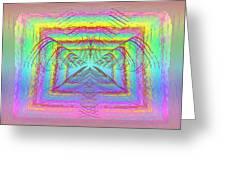 Pastel Rainbow Reverberations Greeting Card