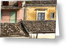 Pastel Roofscape Greeting Card