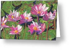 Pastel Water Lilies I  Greeting Card