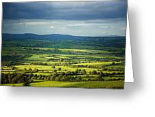 Pastoral Fields, Near Clonea, County Greeting Card