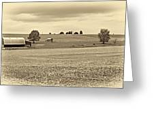 Pastoral Pennsylvania Sepia Greeting Card
