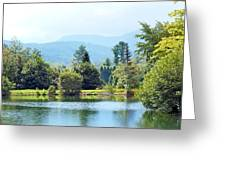 Pastoral Pond And Valley Greeting Card