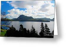 Pastoral Scene By The Ocean Greeting Card