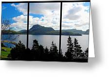 Pastoral Scene By The Ocean Triptych Greeting Card