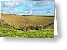 Pasture Land - Dorset Greeting Card