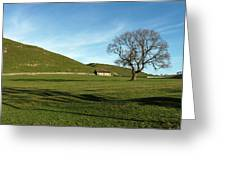 Pasture Land At Thorpe - Derbyshire Greeting Card