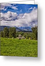 Pastures And Clouds  Greeting Card