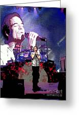Pat Monahan Of Train Greeting Card