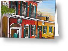 Pat O's Courtyard Entrance Greeting Card