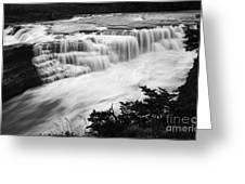 Patagonia Rio Glaciar Waterfall Greeting Card